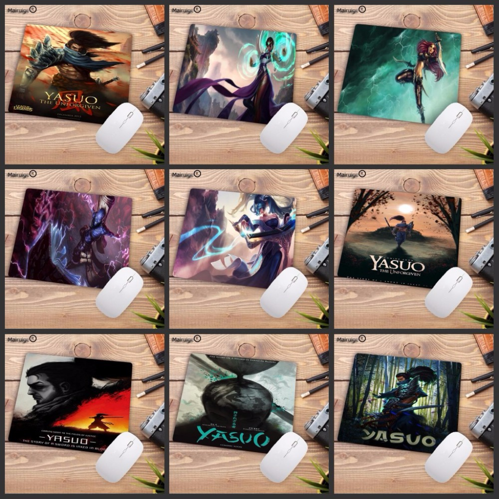 Mairuige 220*180*2mm Promosyon 3D Seksi Mousepad Oyun Hız Kauçuk Mouse Pad Gamer için Anime Riven yasuo League of legends